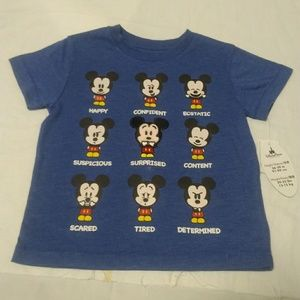 Disney Mickey Mouse Faces Size 3T T-Shirt